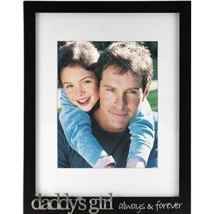 "Black Wooden ""Daddy's Girl"" Vertical Picture Frame, Holds 8"" x 10"" and 11"" x 14"" Pictures"