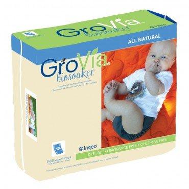 GroVia Bio Soaker Pads 50-Count, White - 1