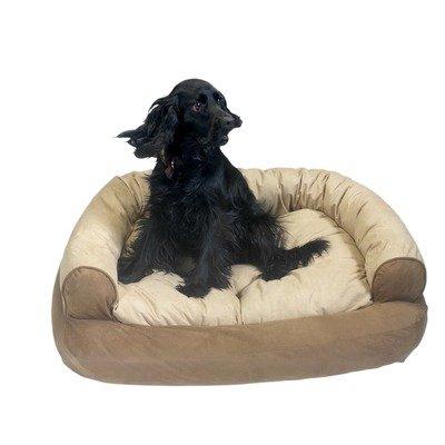 Snoozer Overstuffed Luxury Pet Sofa, Small, Brandywine front-858334