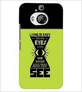 PrintDhaba Quote D-4212 Back Case Cover for HTC ONE M9 PLUS (Multi-Coloured)