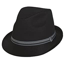 Product Image Xhilaration® Solid Fedora with Grosgrain Ribbon - Black