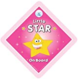 Little Star On Board Car Sign PINK Little Star On Board Car Sign Baby on Board Sign Baby on Board Baby Sign Baby Car Sign Decal Bumper StickerMaternity Pregnancy Baby Girl On Board Sign Granddaughter Car Sign