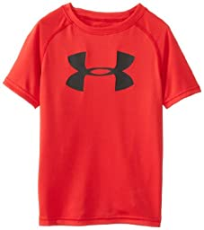 Under Armour Little Boys\' Big Logo Short Sleeve Tee, Red, 4