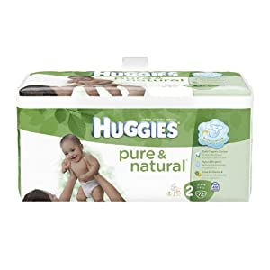 Huggies Pure & Natural Diapers, Size 2, 72 Count (Pack of 2)