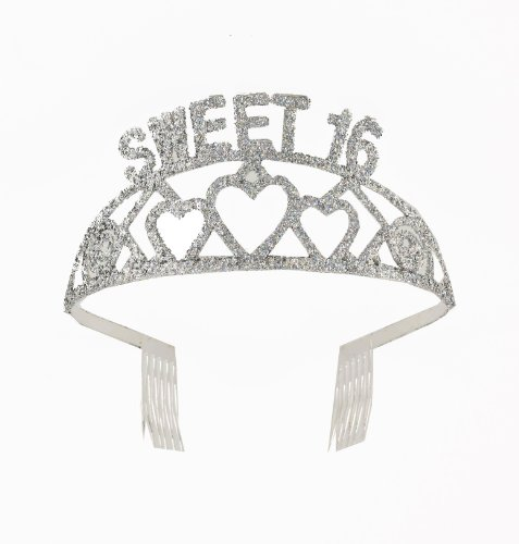 Forum Novelties Sweet 16 Birthday Glitter Tiara - 1