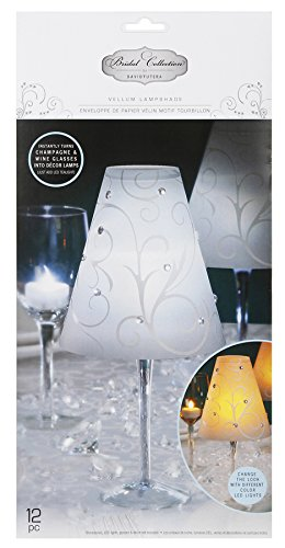 David Tutera Vellum Lampshade - Swirl Print - Opaque/White - 12 pieces
