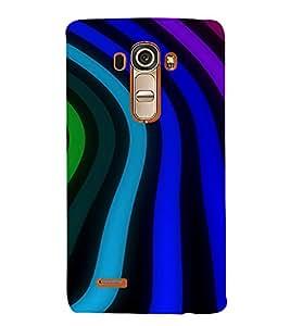 PrintVisa Wave Stripes Pattern 3D Hard Polycarbonate Designer Back Case Cover for LG G4