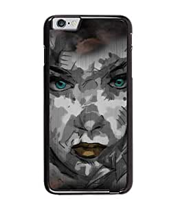 Fuson Night Haunted Girl Face Back Case Cover for APPLE IPHONE 6 - D4116