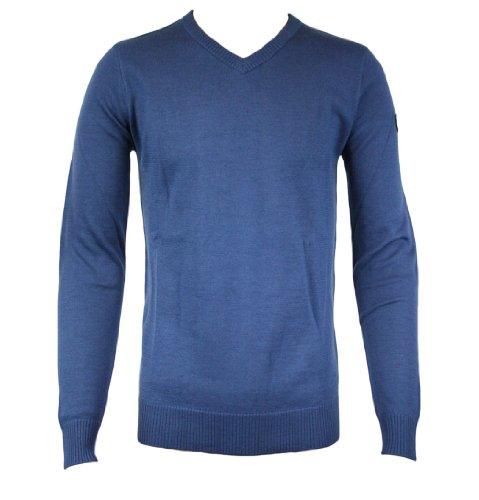 Emporio Armani EA7 274095 1W376 Mens V-Neck Jumper AW11 Pale Turquoise XXL