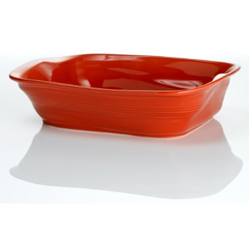 Revol 644784 Froisses Crumple Roasting Dish, Pepper Red