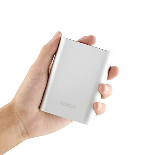AUKEY-10000mAh-Portable-Charger-with-Qualcomm-Quick-Charge-20-Aluminum-Case-for-iPhone-Samsung-and-More-NOT-Compatible-with-Moto-Series-Phones