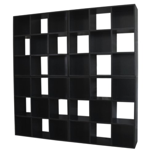 4x Modul-Regal Standregal M73, 186x186x30 cm ~ schwarz online kaufen