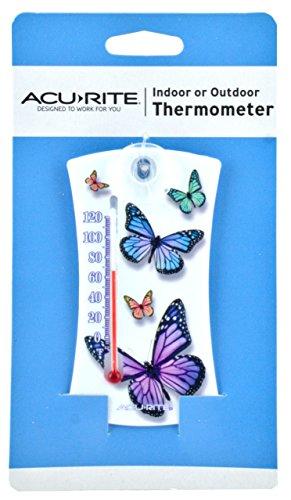 AcuRite Mini Thermometer (White Butterfly Design) (Acurite Window Thermometer compare prices)
