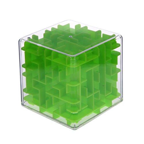 Rubik Cube Labyrinthe Difficile Jeux Séquentiels Puzzle 3D Enfant - Vert