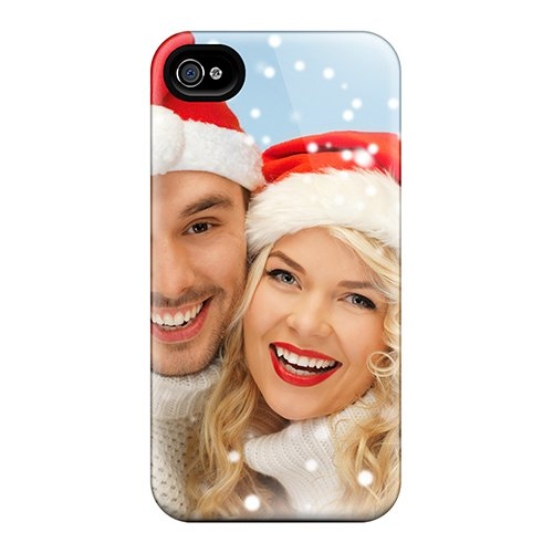 New Snap-On Jenna Avery Skin Case Cover Compatible With Iphone 4/4S- Family In Sweaters And Santa'S Hats