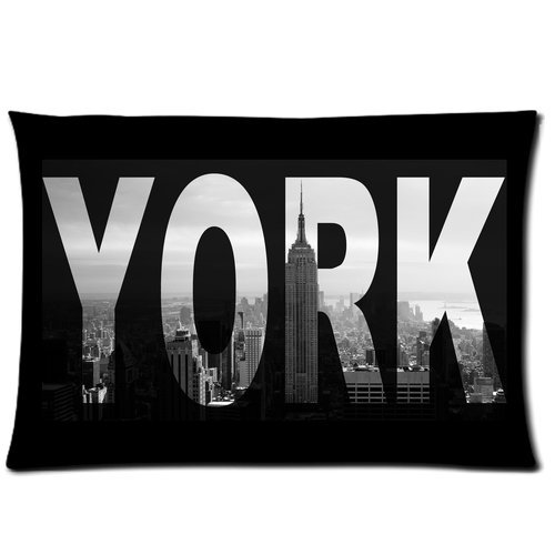 I Love Ny New York City View Custom Zippered Bed Pillow Cases 20X30 (Twin Sides) front-1004542