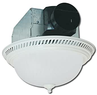 Air king aklc703 decorative round quiet exhaust bath fan - Round bathroom exhaust fan with light ...
