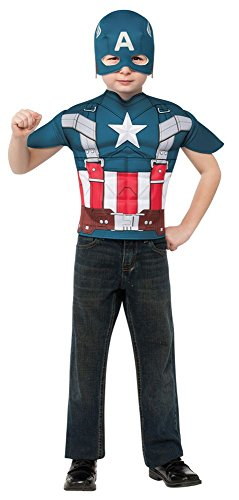Captain America Boys Costume Patriotic American Superhero small