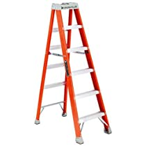 Louisville Ladder FS1506 300-Pound Duty Rating Fiberglass Ladder, 6-Feet