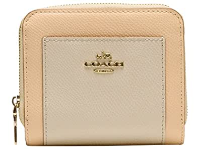 [コーチ] COACH 財布(二つ折り財布) F52846 アプリコット×チョーク ラグジュアリー バイカラー クロスグレーン レザー ミディアム ジップ アラウンド レディース [アウトレット品] [ブランド] [並行輸入品]