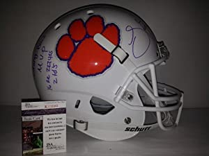 Sammy Watkins Signed Autographed Clemson Tigers Limited Edition Stats White Pearl... by Schutt