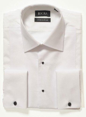 Rocola Mens Classic Collar Marcella Dress Shirt 16