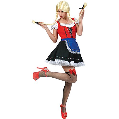 Adult Bavarian Girl Halloween Costume (Size: 16)
