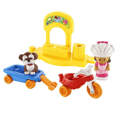 Fisher-Price Little People Corner Market and Trike Bundle