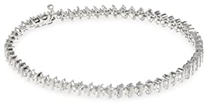 14k White Gold S-Link Diamond Tennis Bracelet (1 cttw, H-I Color, I1-I2 Clarity), 7''