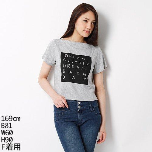 ムルーア(MURUA) Tシャツ(ロゴボ-トネックT-SH)【グレー/F】