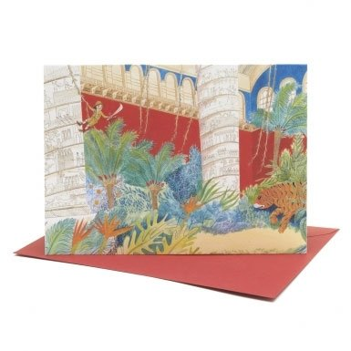 Ollie's dream of Tipu's Tiger and the V&A Cast Courts' Single Greeting Card||EVAEX