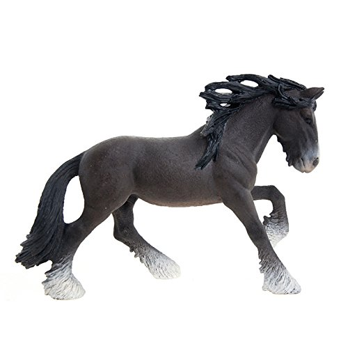 Schleich Shire Stallion Toy Figure - 1