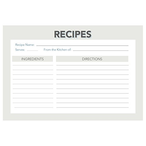 Retro And Vintage Recipe Card Set From Dashleigh, 48 Cards, 4X6 Inches, Water-Resistant And High Quality front-1007270