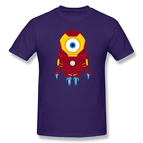 WAYNEY Big Boysâ€TM The Avengers Tony Stark Iron Man Despicable Me Minions T-shirt