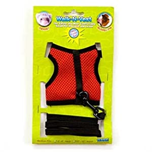 Ware Nylon Walk-N-Vest Small Pet Harness and Leash, Medium, Color May Vary