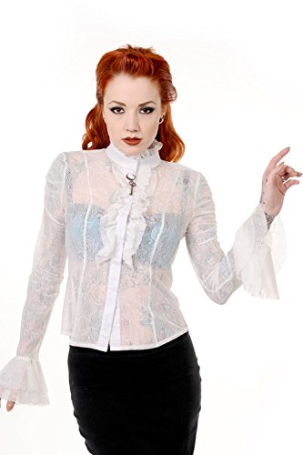 Banned Apparel - Camicia -  donna Avorio Bianco sporco