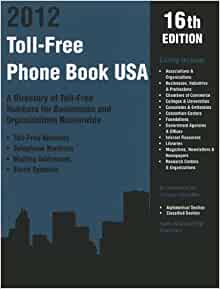 Directory of toll free phone numbers