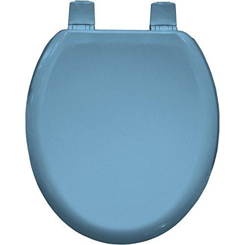 Bemis Chicago Stay Tight Toilet Seat Sky Blue Novelty