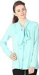 Unimod Women's Polyester Regular Fit Top (U032_Mint_XS, Mint, XS)