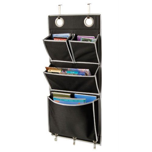 Over The Door Magazine Storage Pockets Hooks Books Organizational Back To School Office Home 14W X32h