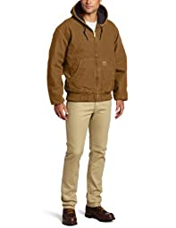 Carhartt Men\'s Big & Tall Quilted Flannel Lined Sandstone Active Jacket J130,Carhartt Brown,Large Tall