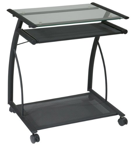 Buy Low Price Comfortable Office Star Orion Computer Cart With Black Frame Finish – ORN203BK (B003WRAOVS)
