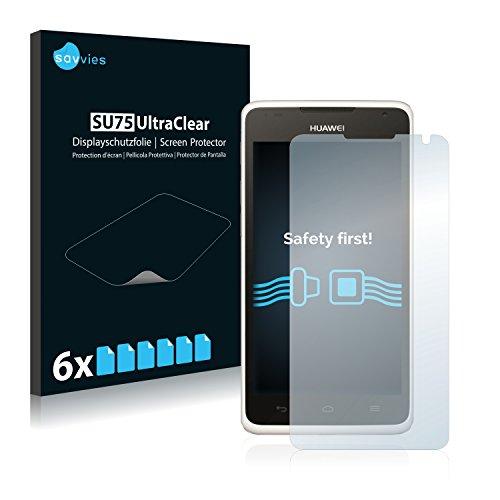 6x Savvies Pellicola Protettiva per Huawei Ascend Y530 Protezione Proteggi Schermo Trasparente