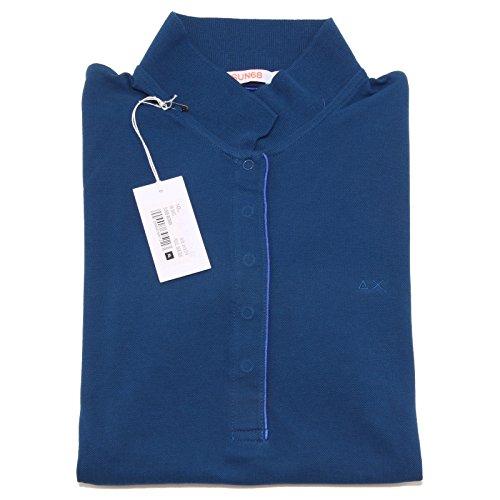 8287O polo manica corta SUN68 blu maglia donna t-shirt woman [XL]