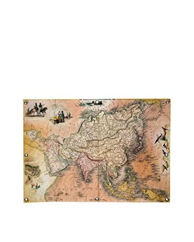 Ginger Antique Map #1 Canvas Wall Mural