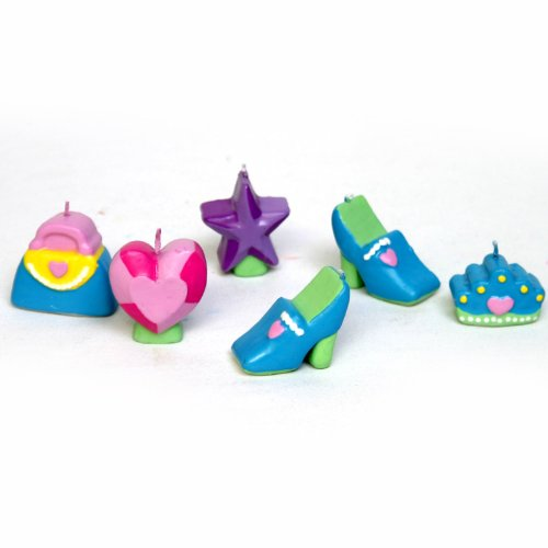 Princess Mini Molded Cake Candles (6 count) - 1