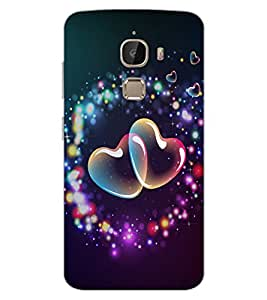 ColourCraft Lovely Hearts Design Back Case Cover for LeEco Le 2 Pro