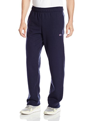 Champion Men's Powerblend Open Bottom Fleece Pant, Navy, L (Champions Clothing Men compare prices)