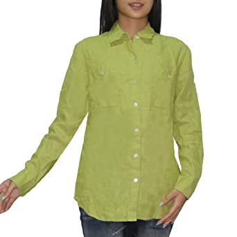 Tommy bahama womens button down long sleeve linen shirt for Tommy bahama long sleeve dress shirts