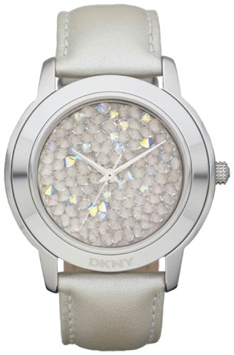 DKNY Glitz White 3-Hand Analog Women's watch #NY8477